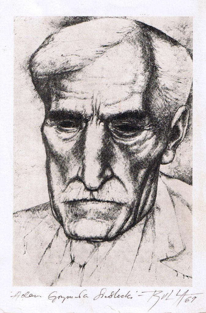 ignacy_bulla_portret_Adama_Grzymaly_Siedleckiego_1969