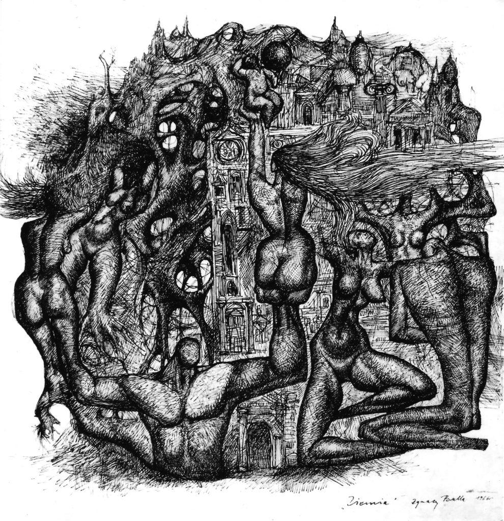 ignacy_bulla_rysunek_ziemia_1966